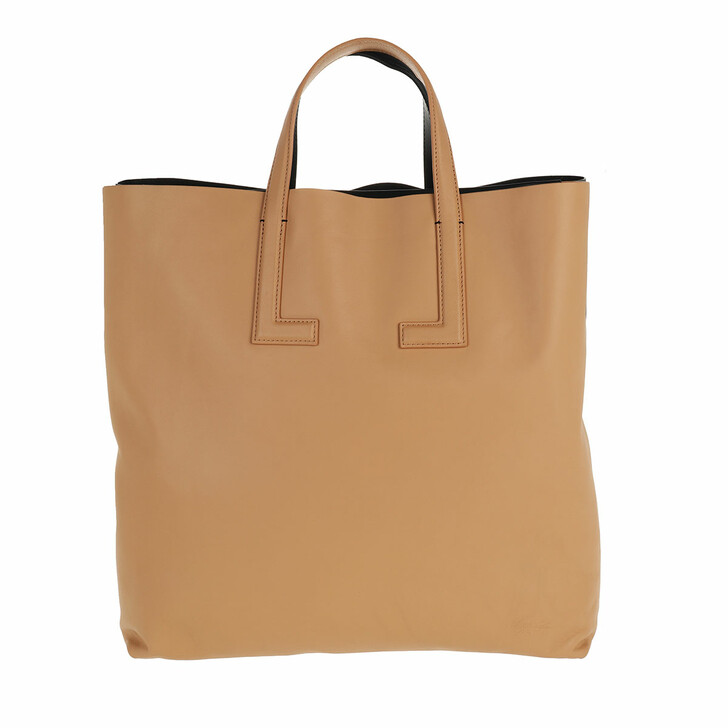 Handtasche, Lacoste, Double Tote Bag Cappuccino Noir