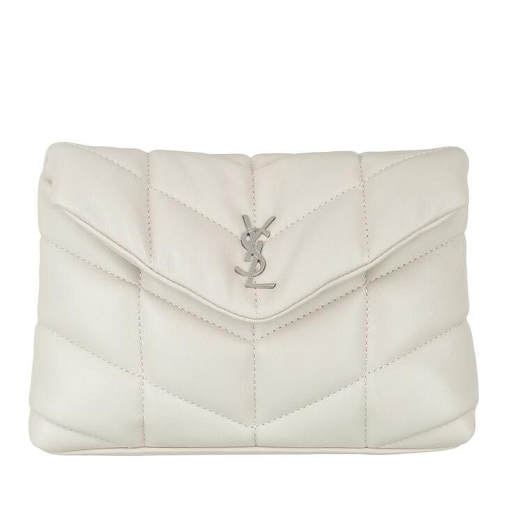 Handtasche, Saint Laurent, Puffer Small Pouch Quilted Lambskin Crema Soft