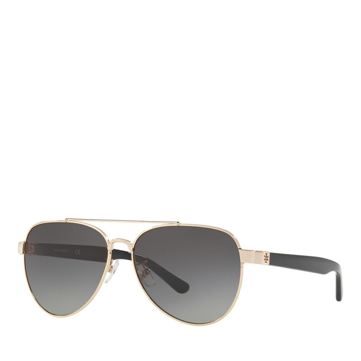 Sonnenbrille, Tory Burch, METALL WOMEN SONNE SHINY LIGHT GOLD METAL
