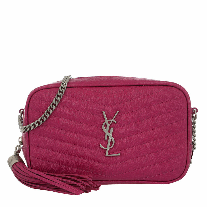 Handtasche, Saint Laurent, Mini Lou Crossbody Bag Leather Fuxia
