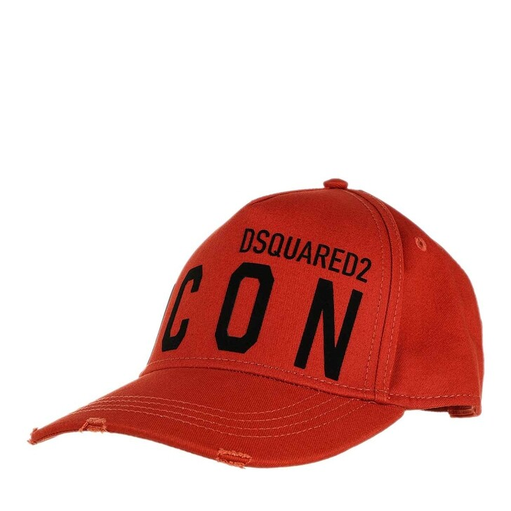 hats, Dsquared2, Icon Baseball Cap Red/Black