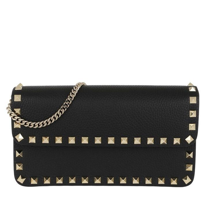 Handtasche, Valentino, Rockstud Pouch Leather Black
