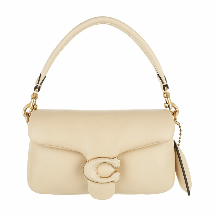 bags, Coach, Leather Covered C Closure Pillow Tabby Shoulder Ba B4/Ivory