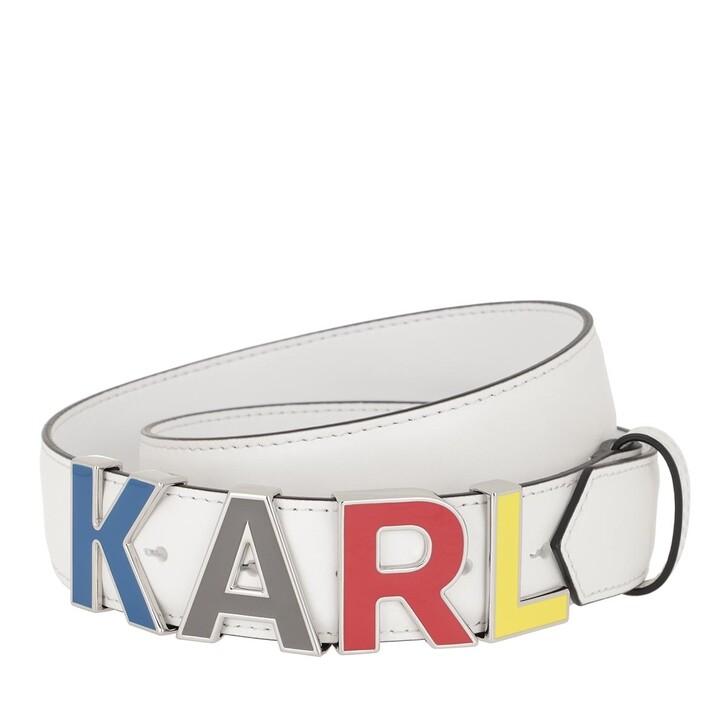 Gürtel, Karl Lagerfeld, Karl Metal Letters Belt White
