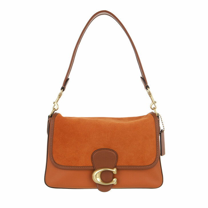 bags, Coach, Mixed Leather With Suede Flap Soft Tabby Shoulder  Canyon Multi