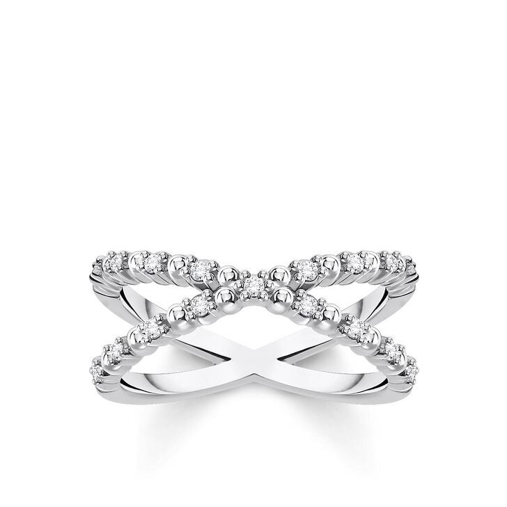 Ring, Thomas Sabo, Ring Dots Stones Pearl White