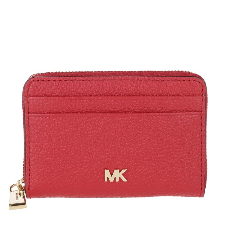 Geldbörse, MICHAEL Michael Kors, Mott Ziparound Coin Card Case Bright Red