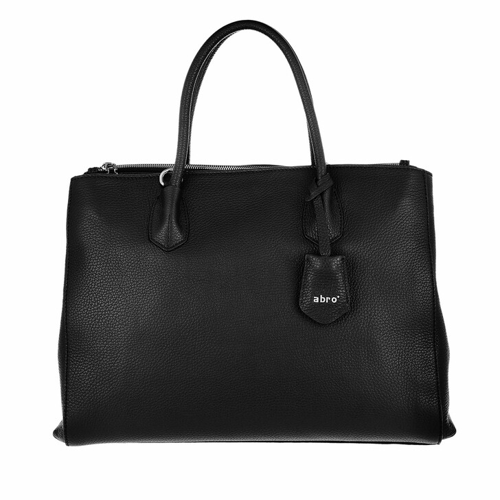 Handtasche, Abro, Business Shopper Busy Large Black Nickel