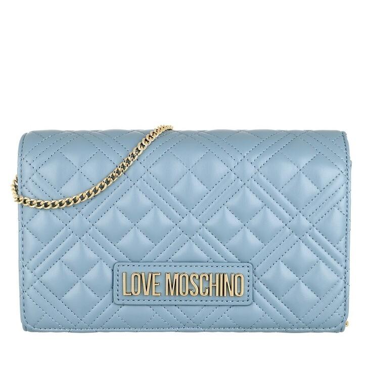 Handtasche, Love Moschino, Borsa Quilted Nappa Pu  Azzurro