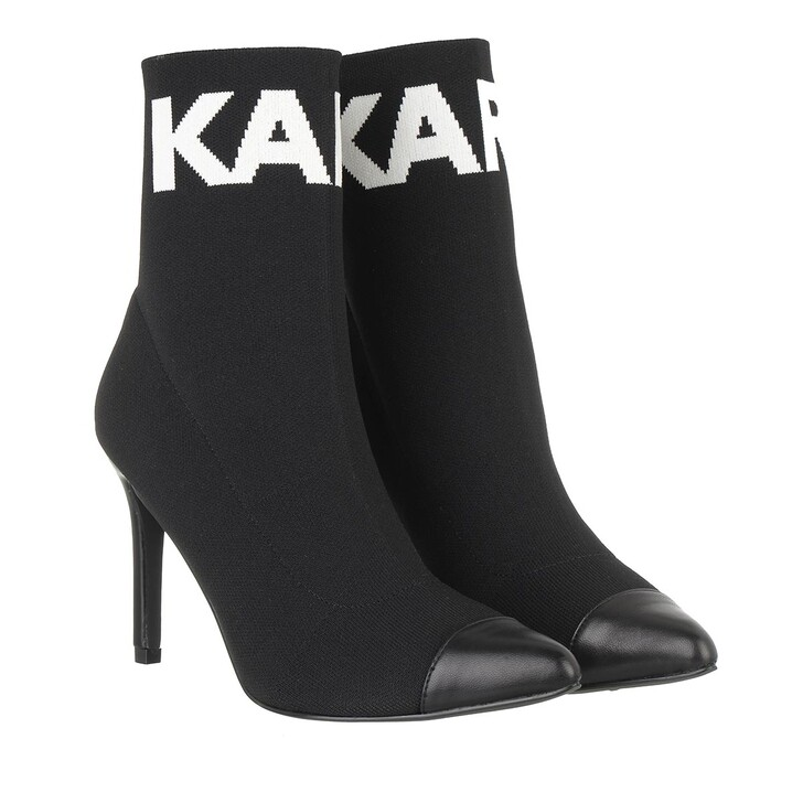 shoes, Karl Lagerfeld, PANDORA High Knit Collar Ankle Black Knit