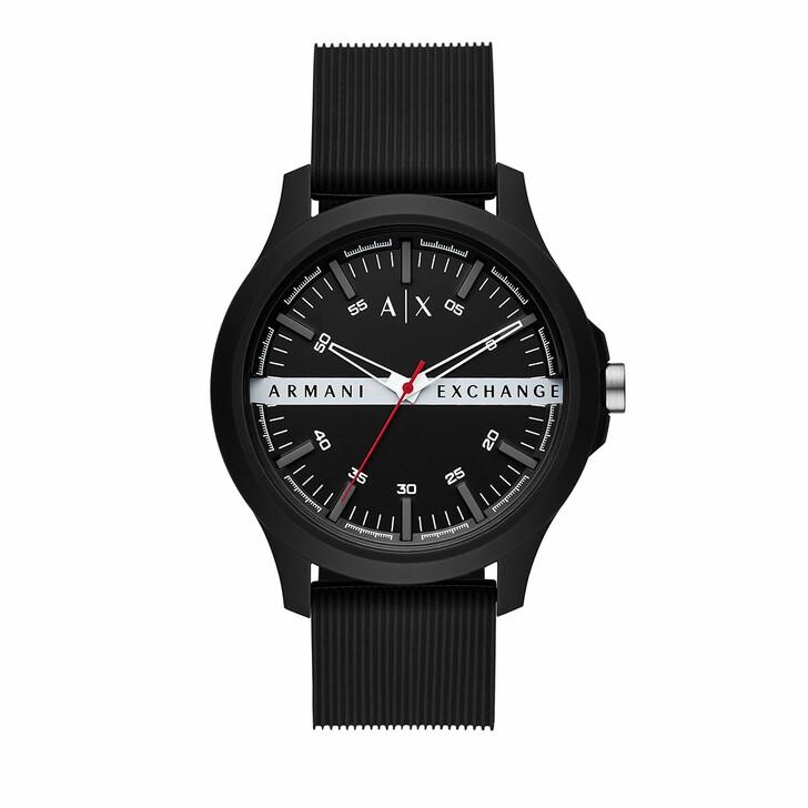 Uhr, Armani Exchange, Three-Hand Silicone Strap Black