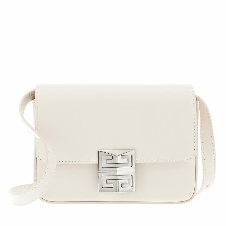 bags, Givenchy, Logo Lock Crossbody Bag Leather Ivory