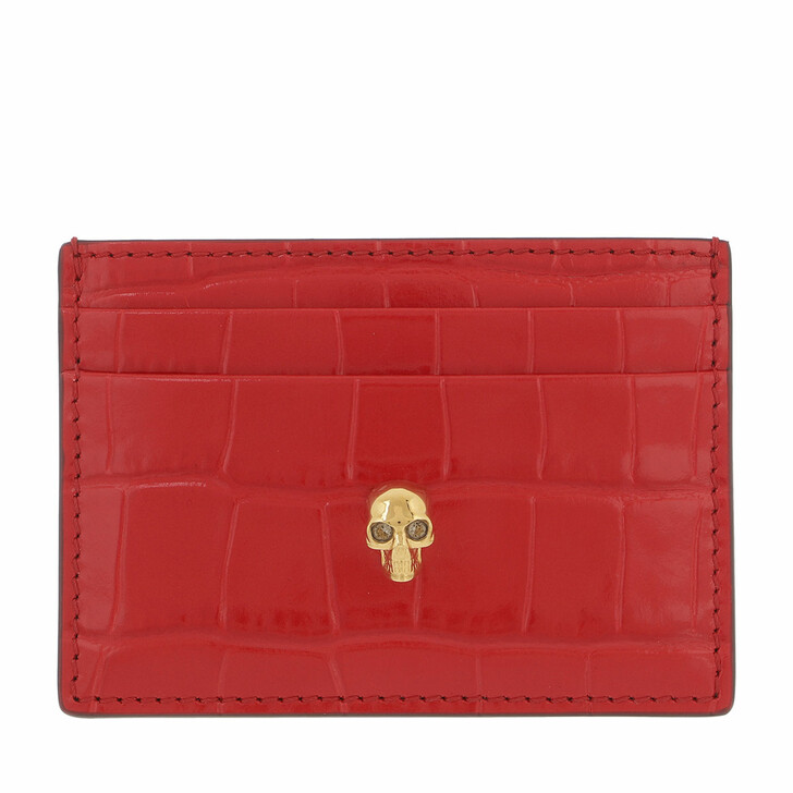 wallets, Alexander McQueen, Card Holder Deep Red