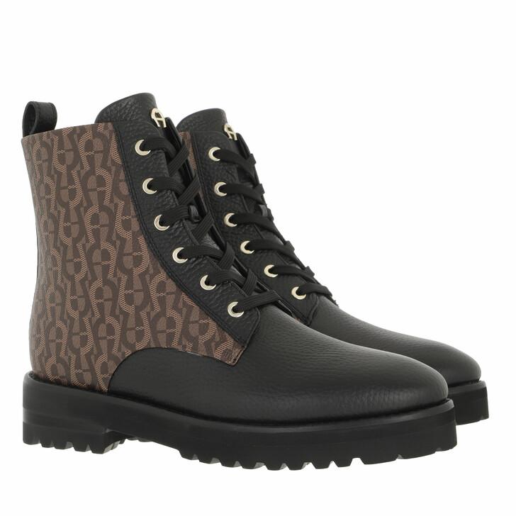 shoes, AIGNER, Bootie Black Fango