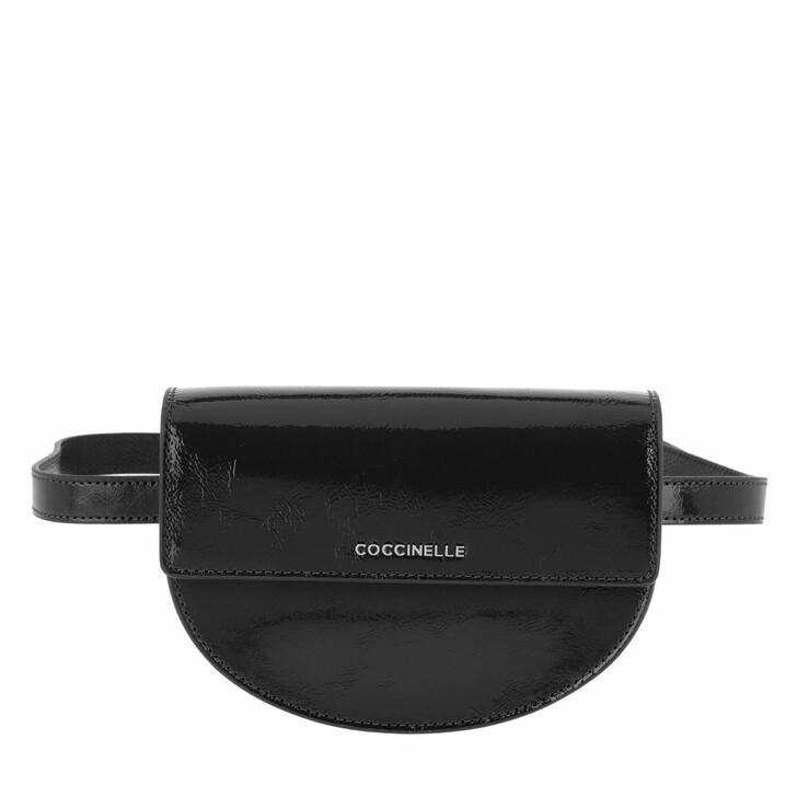 Handtasche, Coccinelle, Danny Naplack Belt Bag Noir
