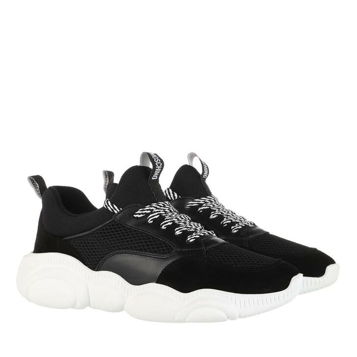 Schuh, Moschino, Orso 30 Mix Sneaker Nero