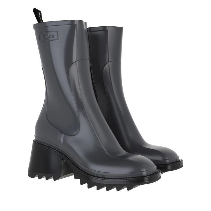 shoes, Chloé, Betty Rain Boots Grey Black