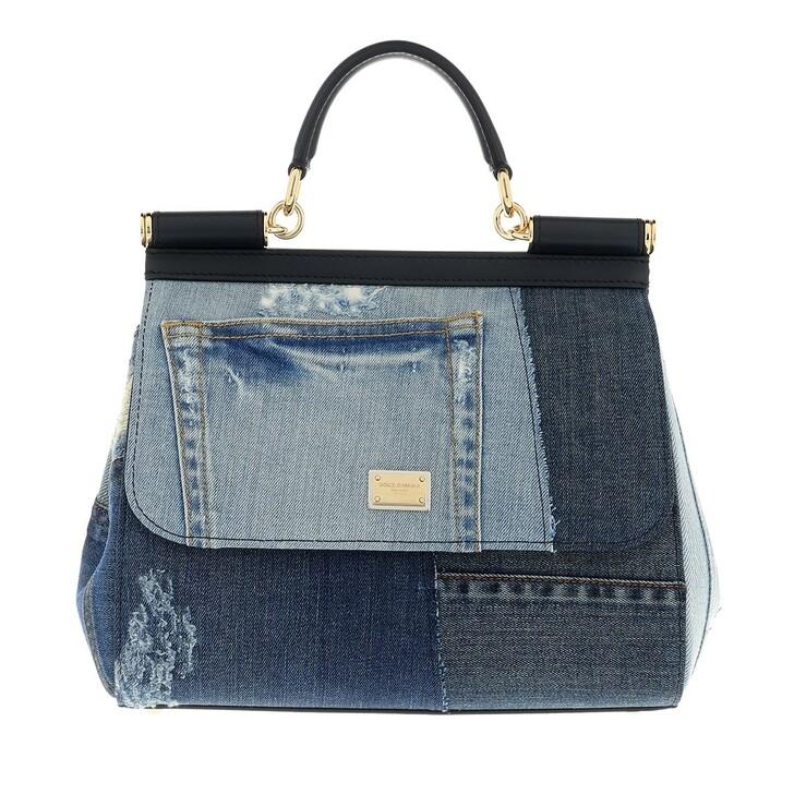 bags, Dolce&Gabbana, Sicily Medium Satchel Bag Denim