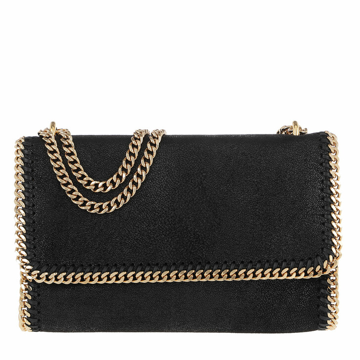 Handtasche, Stella McCartney, Falabella Velvet Crossbody Bag Black