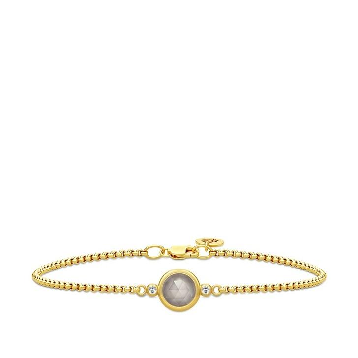 bracelets, Julie Sandlau, Moon Bracelet Gold/Grey