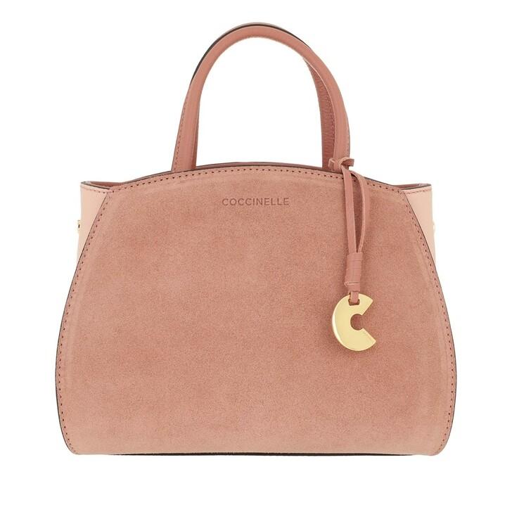 Handtasche, Coccinelle, Concrete Suede Bicolor Litchi Rose