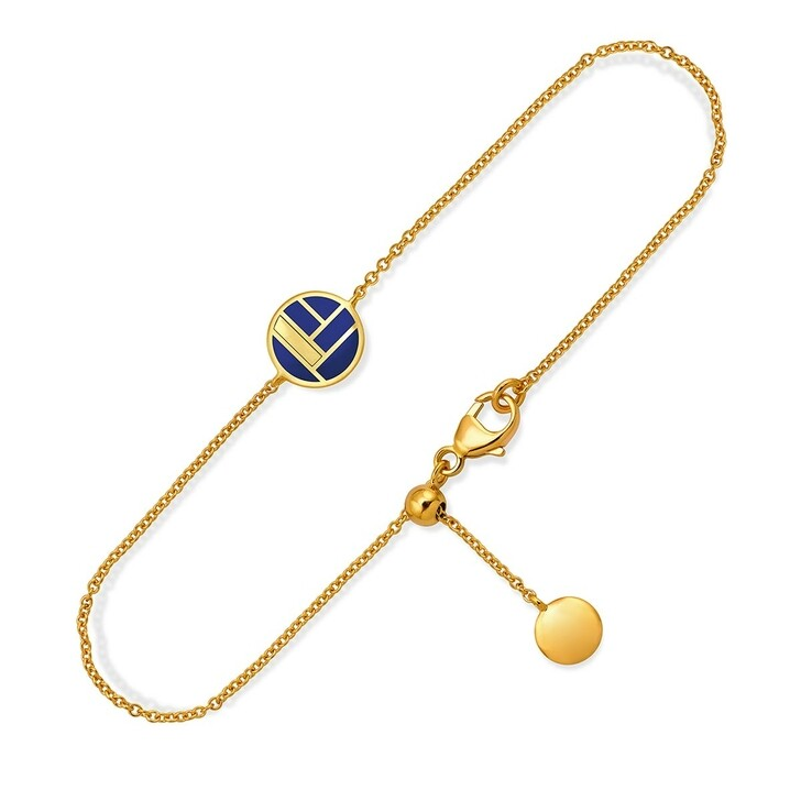 bracelets, Pukka Berlin, Bauhaus Ceramic Bracelet Blue and Yellow Gold
