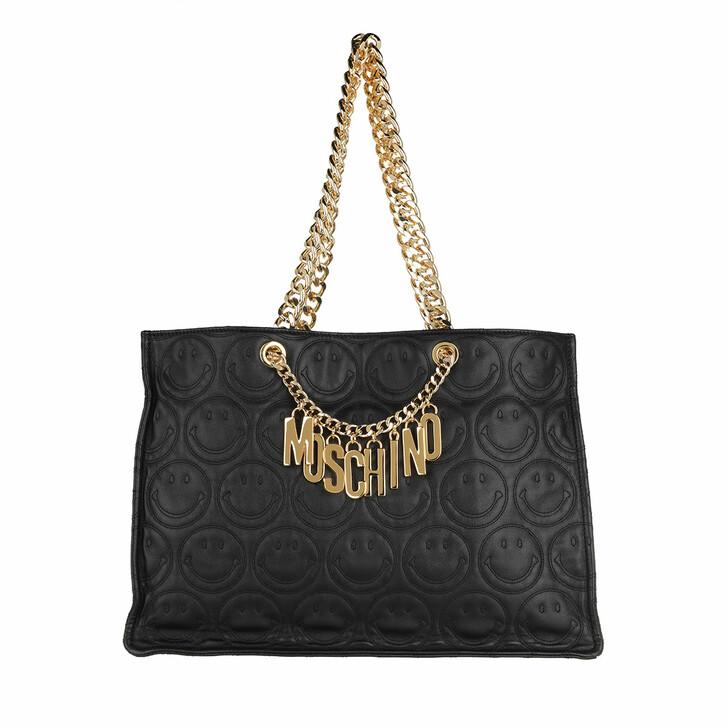 Handtasche, Moschino, Shoulder Bag Fantasia Nero