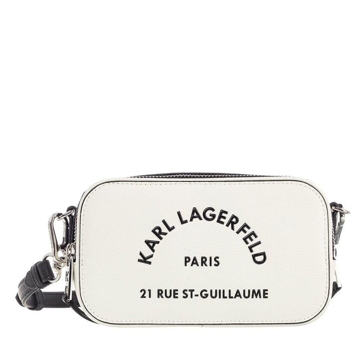 Handtasche, Karl Lagerfeld, Rue St Guillaume Camera Bag White