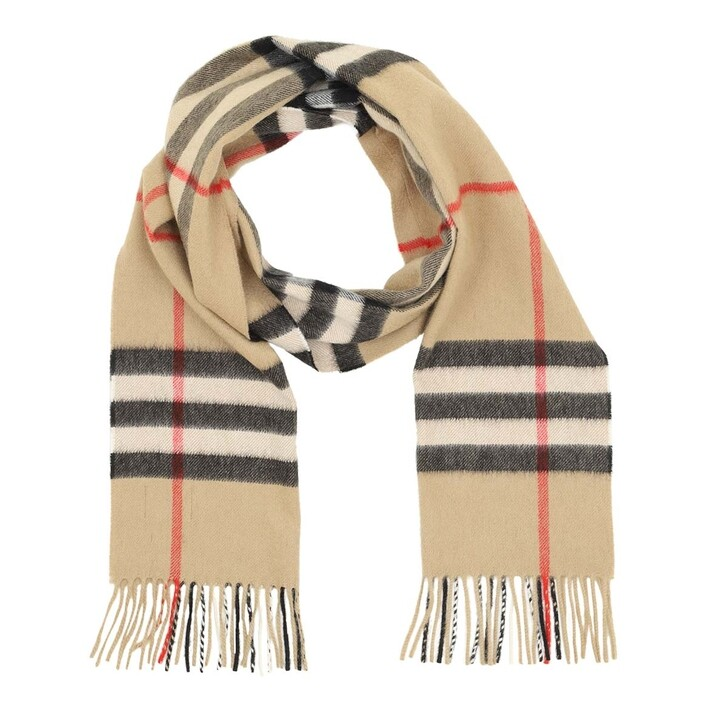Schal, Burberry, Giant Check Scarf Archive Beige
