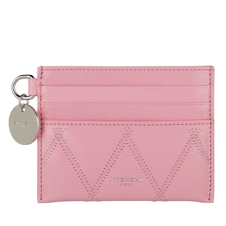 Geldbörse, Givenchy, GV3 Simple Card Holder Quilted Leather Baby Pink