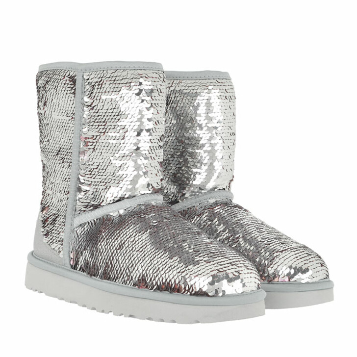 Schuh, UGG, W Classic Short Sequin Silver