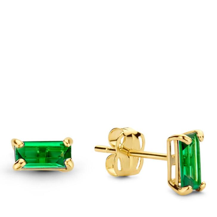 earrings, Isabel Bernard, Baguette Vere 14 Karat Ear Studs