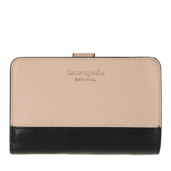 Geldbörse, Kate Spade New York, Compact Wallet  Warm Beige/Black