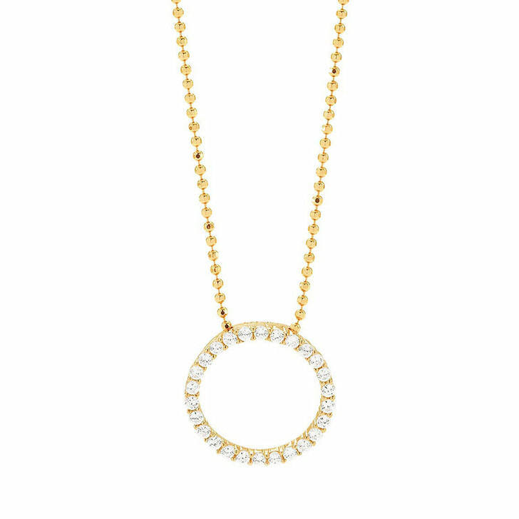 necklaces, Sif Jakobs Jewellery, Biella Pendant And Chain 90 cm 18K Yellow Gold Plated