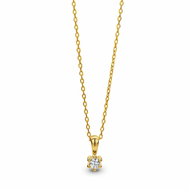 necklaces, DIAMADA, 0.08ct Diamond Necklace 9KT Yellow Gold