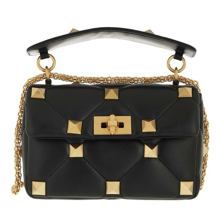 bags, Valentino Garavani, Roman Stud Medium Crossbody Bag Leather Black