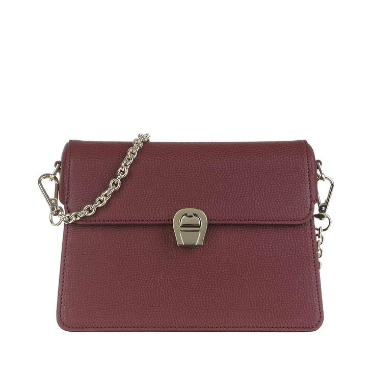 Handtasche, AIGNER, Genoveva Handle Bag Burgundy