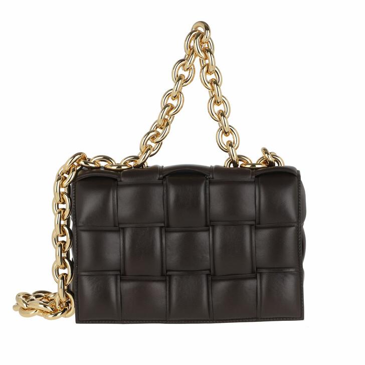 Handtasche, Bottega Veneta, The Chain Cassette Shoulder Bag Fondente