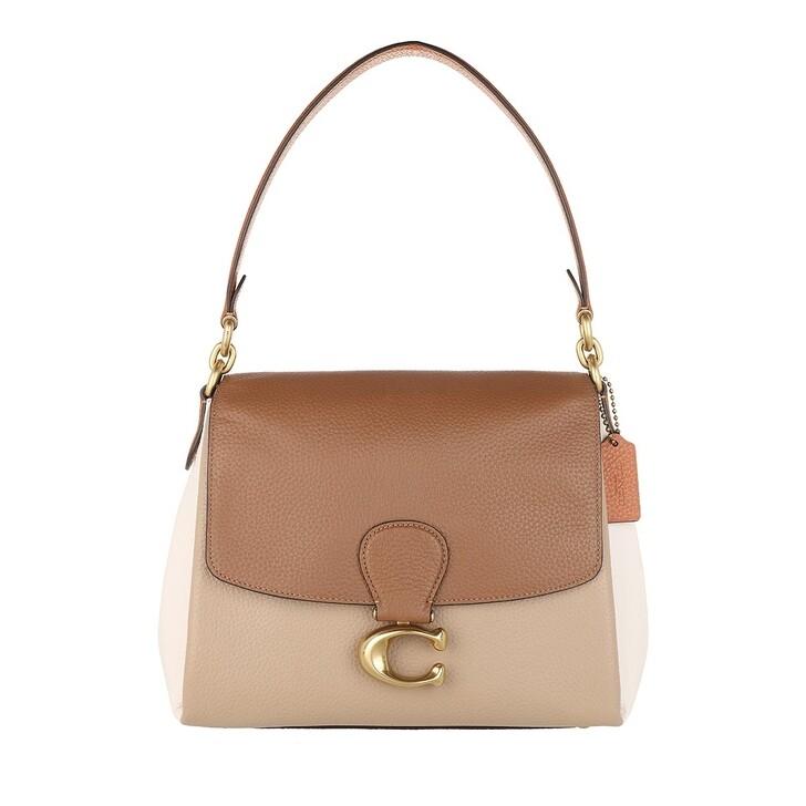 Handtasche, Coach, Colorblock May Shoulder Bag Vintage Khaki Multi