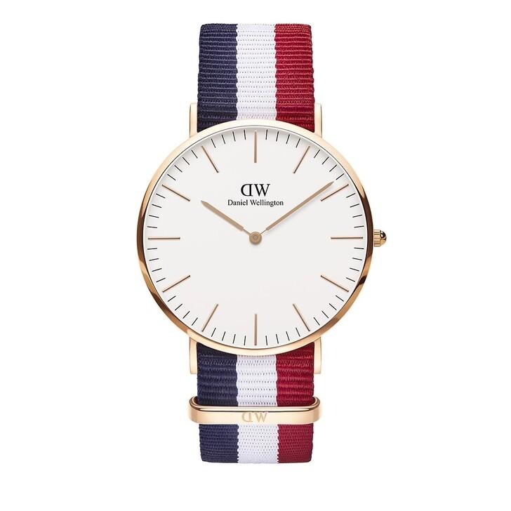 Uhr, Daniel Wellington, Classic Cambridge 40 mm Blue White Red