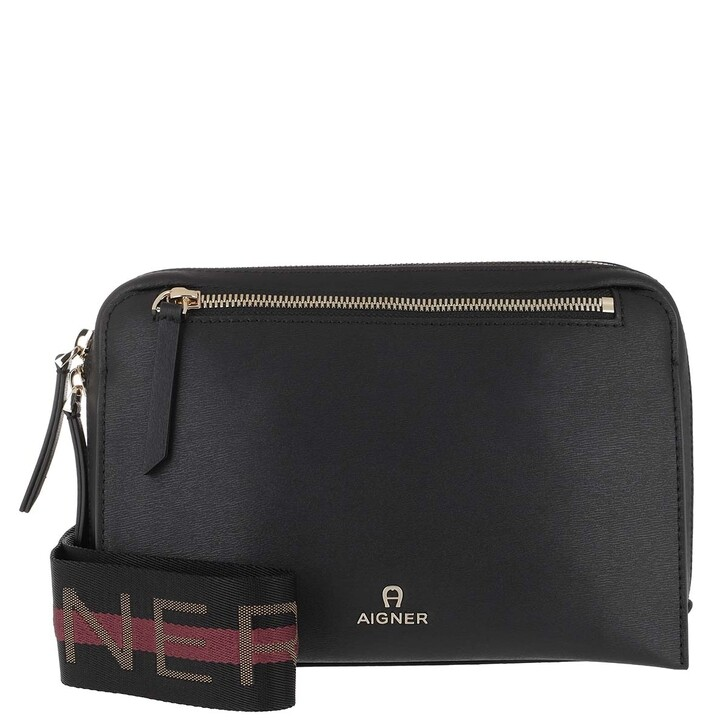 Handtasche, AIGNER, Crossbody Bag Pisa Black