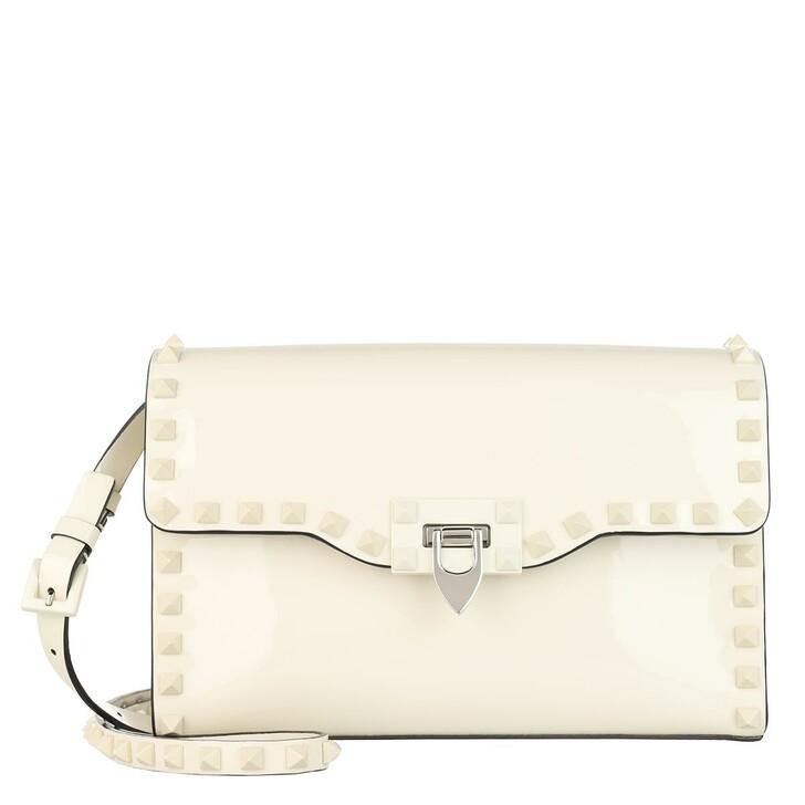 bags, Valentino Garavani, Small Rockstud Crossbody Bag Leather Light Ivory