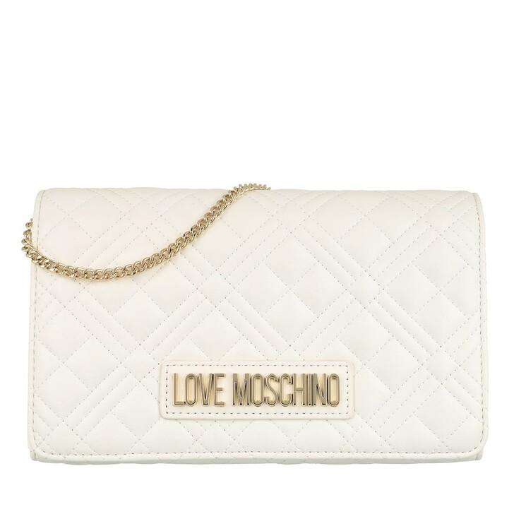 Handtasche, Love Moschino, Borsa Quilted Nappa Pu  Bianco