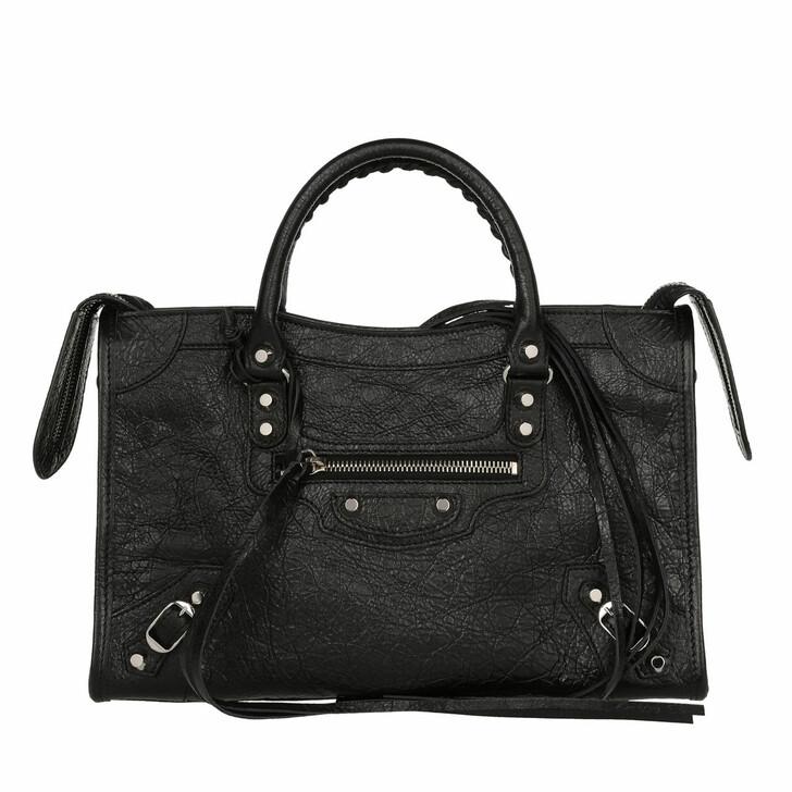 Handtasche, Balenciaga, City Tote Black Silver