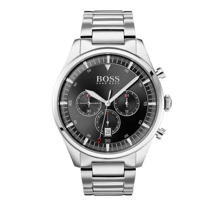 Uhr, Boss, Wristwatch Silver