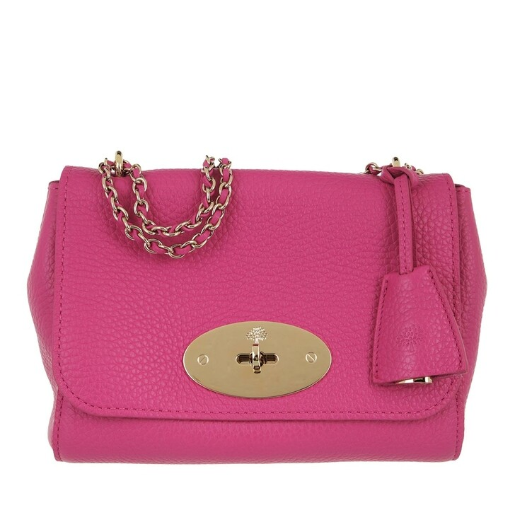 bags, Mulberry, Lily Crossbody Bag Grained Leather Mulberry Pink
