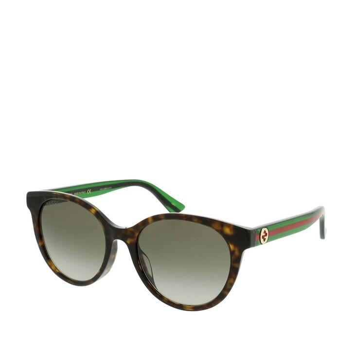 Sonnenbrille, Gucci, GG0702SK-003 54 Sunglasses Havana-Green-Brown
