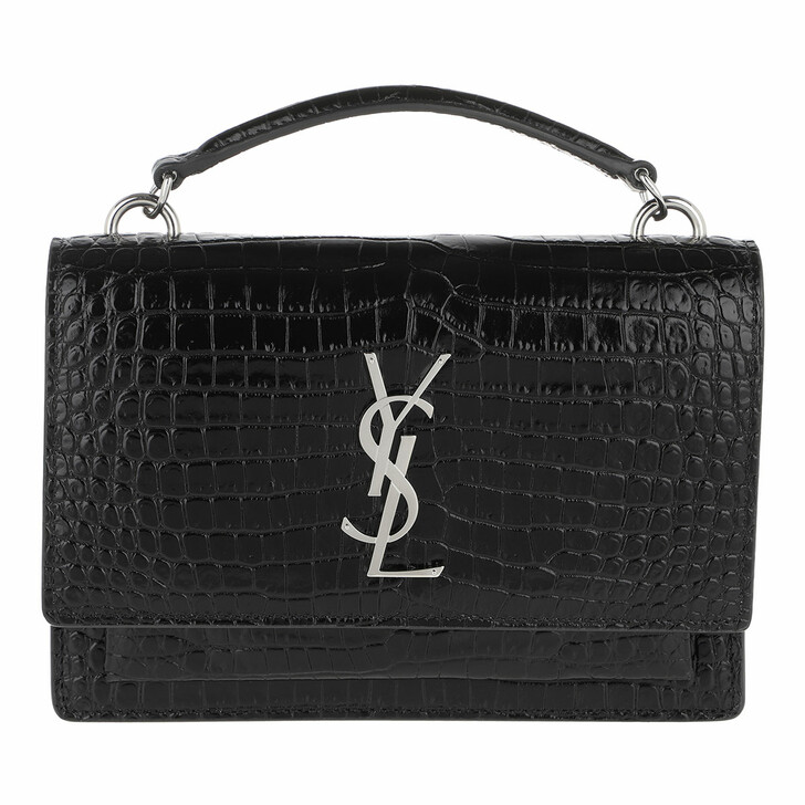 Handtasche, Saint Laurent, Sunset Chain Wallet Monogramme Crossbody Black