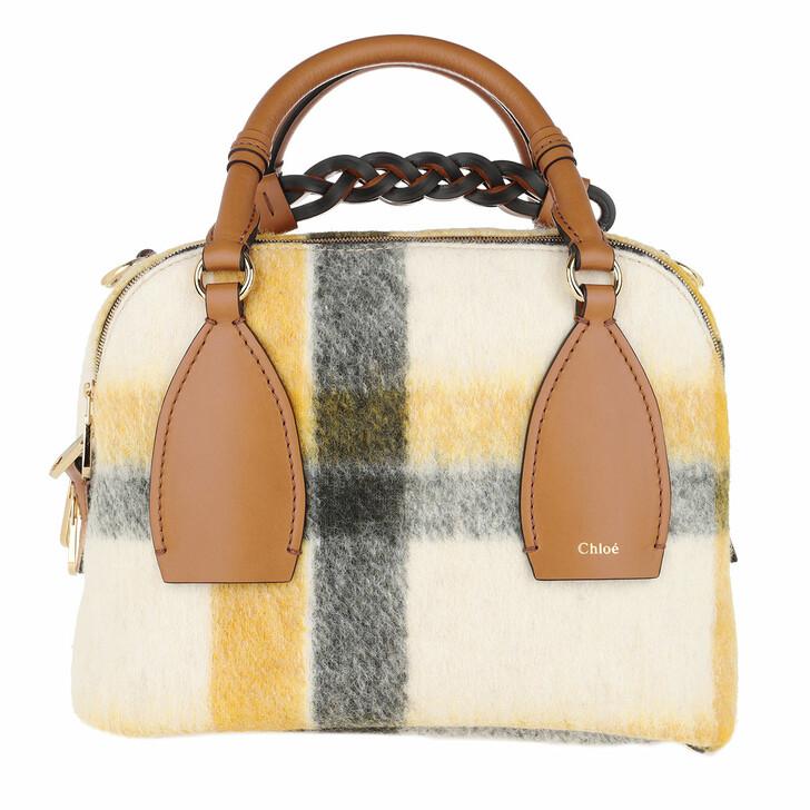 Handtasche, Chloé, Daria Medium Bowling Bag Leather Autumnal Brown