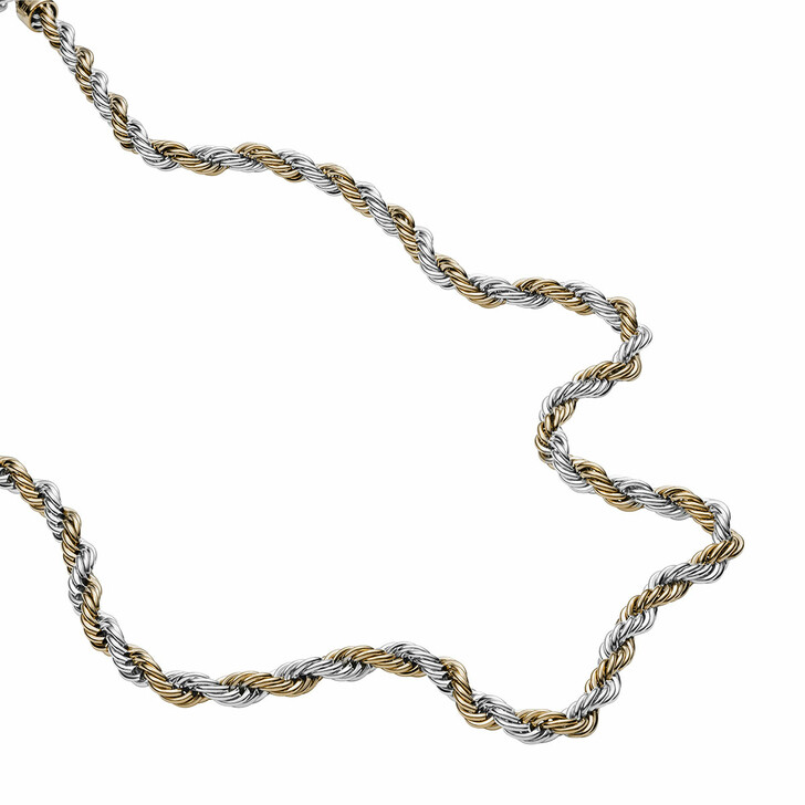 Kette, Diesel, Stainless Steel Braided Necklace Yellow Gold